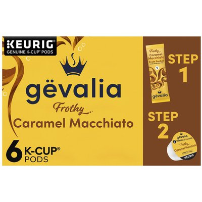 Gevalia Kaffe 2-Step Caramel Macchiato Espresso K-Cup® Coffee Pods & Froth Packets Kit
