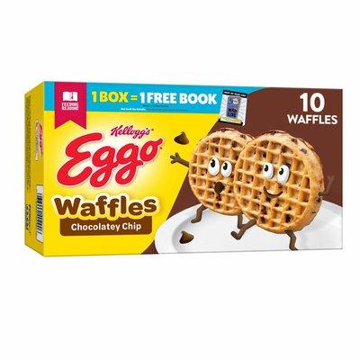 Eggo Frozen Waffles, Frozen Breakfast, Toaster Waffles, Chocolatey Chip