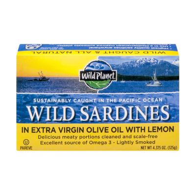 Wild Planet Wild Sardines In Extra Virgin Olive Oil