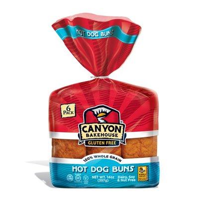 Canyon Bakehouse Buns, Hot Dog, 6 Pack