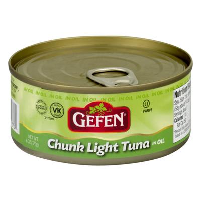 Gefen Chunk Light Tuna, In Oil