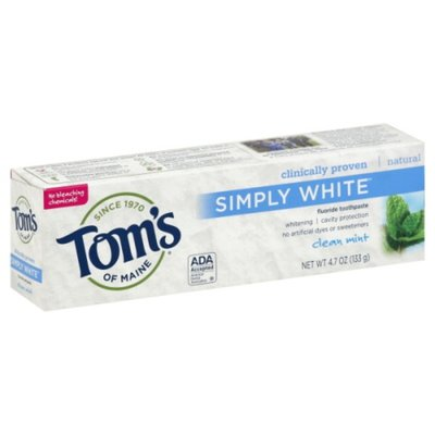 Tom's of Maine Toothpaste, Fluoride, Clean Mint