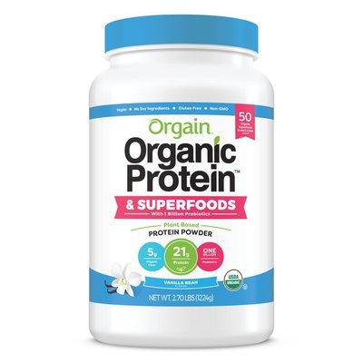 Orgain Organic Protein + Superfoods with Probiotics, Vanilla Bean
