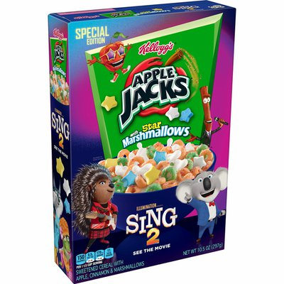 Kellogg's Apple Jacks Breakfast Cereal with Marshmallows, 7 Vitamins and Minerals, Kids Snacks, Original with Marshmallows