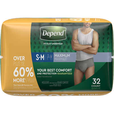 Depend Incontinence Underwear for Men, Maximum Absorbency