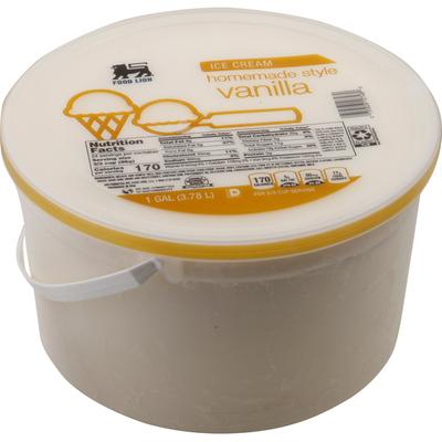 Food Lion Ice Cream, Vanilla, Homemade Style