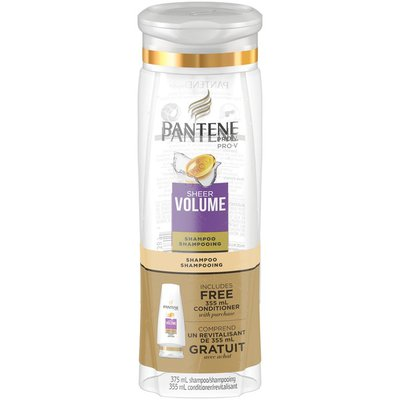Pantene Pro-V Sheer Volume with Free 355mL Conditioner Shampoo