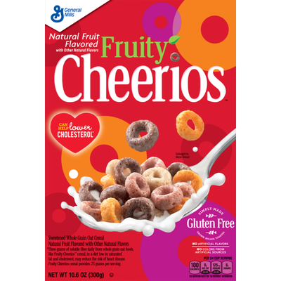 Cheerios Fruity , Cereal with Oats, Gluten Free