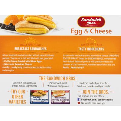 Sandwich Bros. Sandwiches, Flatbread Pocket, Egg & Cheese