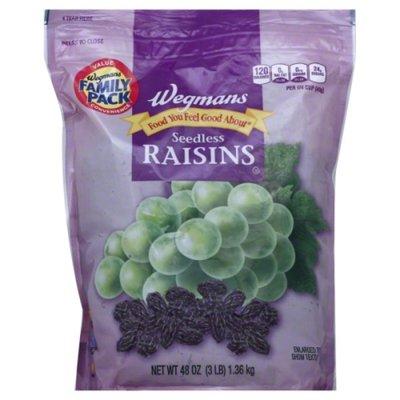 Wegmans Food You Feel Good About Seedless Raisins, FAMILY PACK