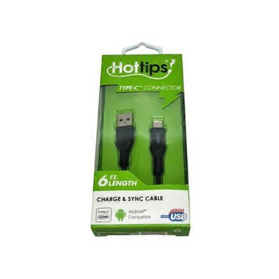 Hottips Extended USB-IF Certified 6' Type-C To USB Type-A Charge & Sync Cable