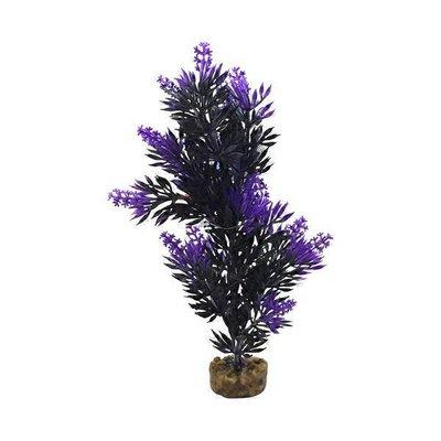 Petco Purple & Black Bush Plant Plastic Aquarium Plant