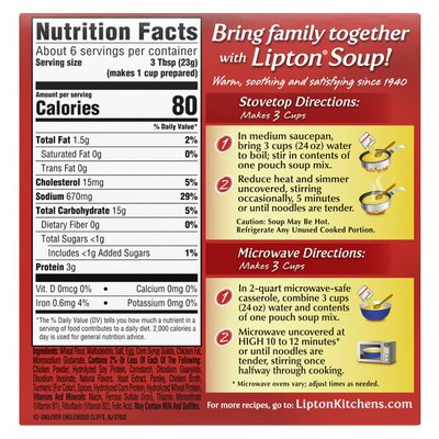 Lipton Instant Soup Mix Extra Noodle