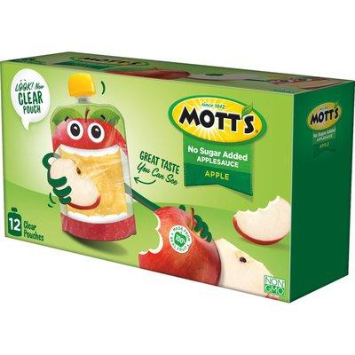 Mott's Unsweetened Applesauce Pouches, Apple