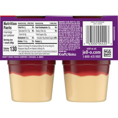 Jell-O Original Strawberry Ready-to-Eat Cheesecake Snacks