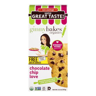 ginnybakes Organics Gluten-Free Cookie Mix Chocolate Chip Love
