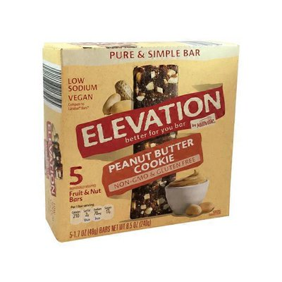 Elevation by Millville Peanut Butter Cookie Pure & Simple Bar