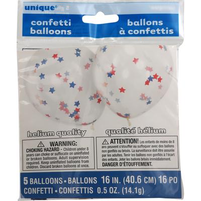 Unique Confetti Balloons, 16 Inch