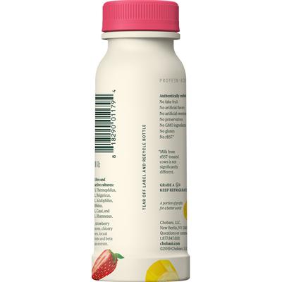 Chobani Yogurt Drink, Greek, Low-Fat, Strawberry Banana