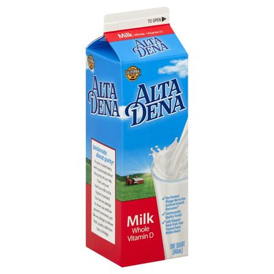Alta Dena Milk, Whole, Vitamin D