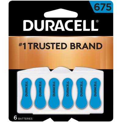 Duracell Batteries, Zinc Air, 675, 6 Pack