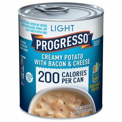 Progresso Soup, Creamy Potato with Bacon & Cheese, Light
