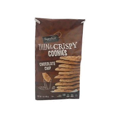 Signature Select Cookies, Chocolate Chip, Thin & Crispy