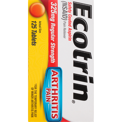 Ecotrin Regular Strength Safety Coated Pain Reliever Tablets