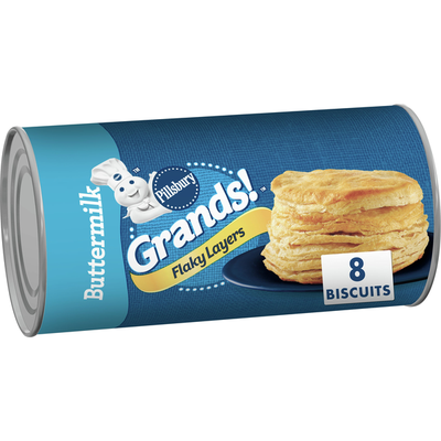 Pillsbury Grands! Flaky Layers, Buttermilk Biscuits, 8 Count