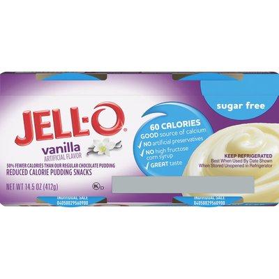 Jell-O Vanilla Sugar Free Ready-to-Eat Pudding Snacks