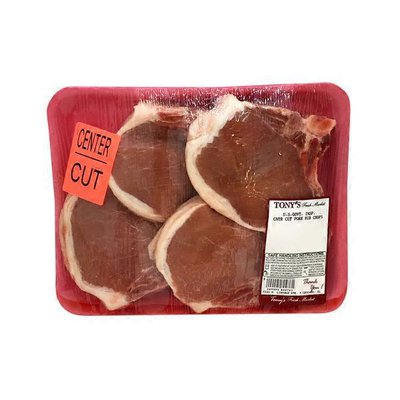 US Government Inspected Center Cut Pork Rib Chops Family Pack
