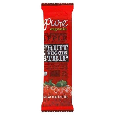 Pure Organic Fruit & Veggie Strip, Strawberry Apple