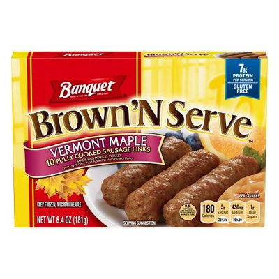 Banquet Brown N Serve Vermont Maple Fully Sausage Patties