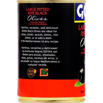 Goya Large Pitted Ripe Black Olives