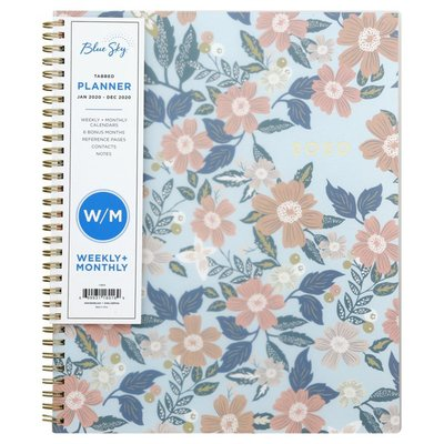Blue Sky Planner, Weekly + Monthly, Tabbed
