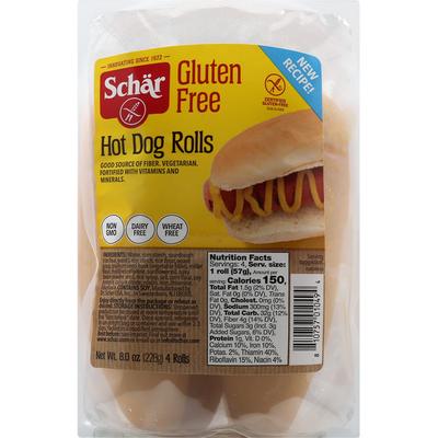 Schar Hot Dog Rolls, Gluten Free