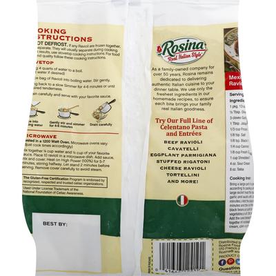 Rosina Ravioli, Gluten-Free, Cheese