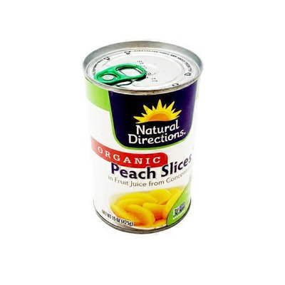 Natural Directions Organic Peach Slices In Juice