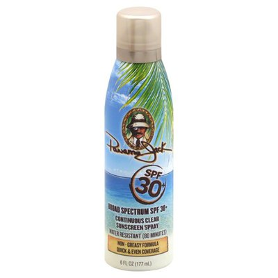 Panama Jack Sunscreen Spray, Continuous Clear, SPF 30+