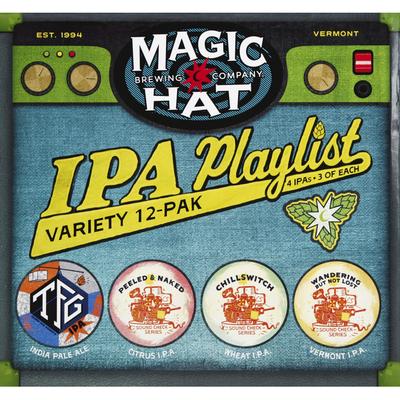 Magic Hat Beer, IPA Playlist, Variety 12-Pak