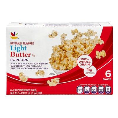 SB Microwave Popcorn Light Butter - 6 CT