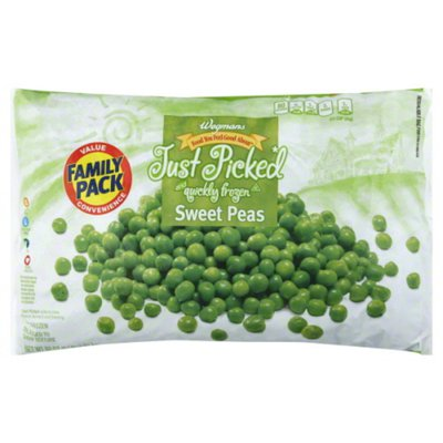 Wegmans Food You Feel Good About Just Picked and Quickly Frozen Sweet Peas, FAMILY PACK