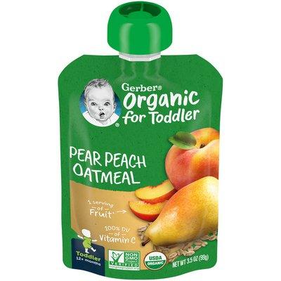 Gerber Pear Peach Oatmeal Baby Food