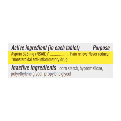 TopCare Aspirin, Regular Strength, 325 mg, Coated Tablets