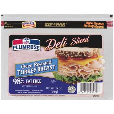 Plumrose Oven Roasted Turkey 98% Fat Free Sliced Turkey Breast