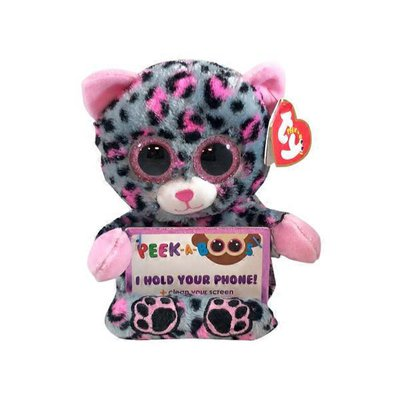 Ty Trixi The Leopard Peek A Boos Phone Holder With Screen Cleaner