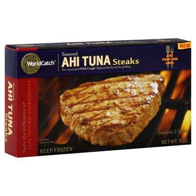 World Catch Ahi Tuna Steaks, Seasoned