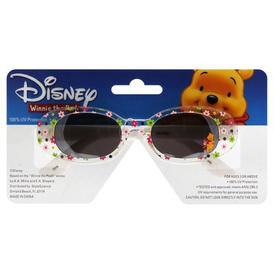 Style Science Sunglasses, Disney Winnie the Pooh, Clear Frames with Flowers