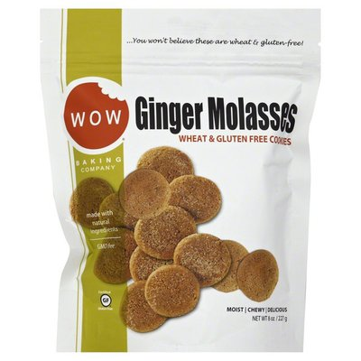 WOW Baking Company Cookies, Wheat & Gluten Free, Ginger Molasses