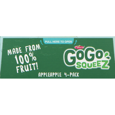 GoGo Squeez Applesauce, Apple Apple, 4 Pack